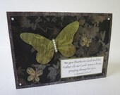 Praying Always Butterflies Christian Card With Scripture