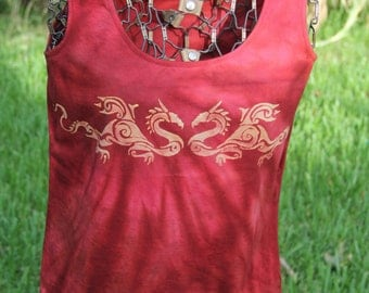 Dragons on red Singlet T-shirt