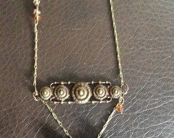 Antiqued Brass necklace