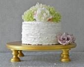"Gold Cake Stand 18"" Wedding Cake Stand Cupcake Gold Cake Topper Vintage Wedding Decor E. Isabella Designs Featured In Martha Stewart Wedding"
