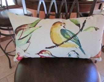 Bird (Lisette Meadow) Richloom - Pillow Cover Only (12x21) - JD Designs