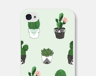 Succulent iPhone 6 Case - Cactus iPhone 5 Case - Geometric iPhone 5 Case - Mint iPhone 6 Case - Cactus iPhone 5c Case - Cactus Phone Case