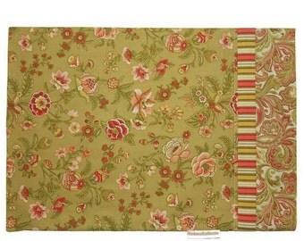Travel Size Pillow Case Shabby Chic Romantic Flowers