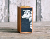 Farm Animal Candleblock: No. 3, Smokestack Beef Cow - by Peg and Awl