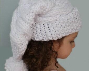 KNITTING PATTERN- Cable Knit Stocking Hat (child- adult sizes) PDF