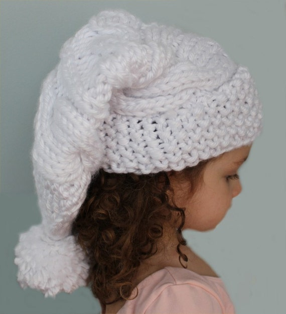 KNITTING PATTERN Cable Knit Stocking Hat child adult sizes