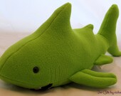 Light Green Plush Shark