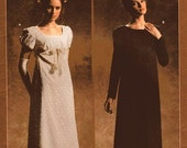 Simplicity Costume Pattern 4055 - Misses' Titanic Style Empire Dress and Sash in Two Variations - Historical Pattern - SZ 6/8/10/12
