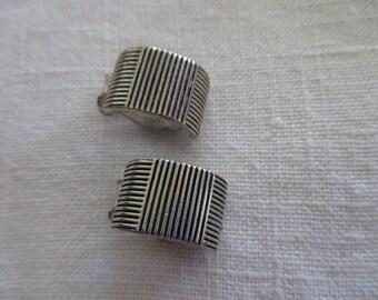 vintage Ralph Lauren silver  EARRINGS - clip on
