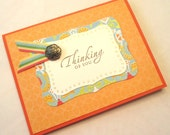 Thinking of You Card - Playful Peach