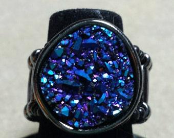 Gunmetal Blues Stretchy Ring