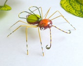 Colorful Flying Medium Wire Art Spider of Whimsy 2, Perfect Gift for the Bug Lover Gift of Nature Home Decoration Collectible Insect Bug