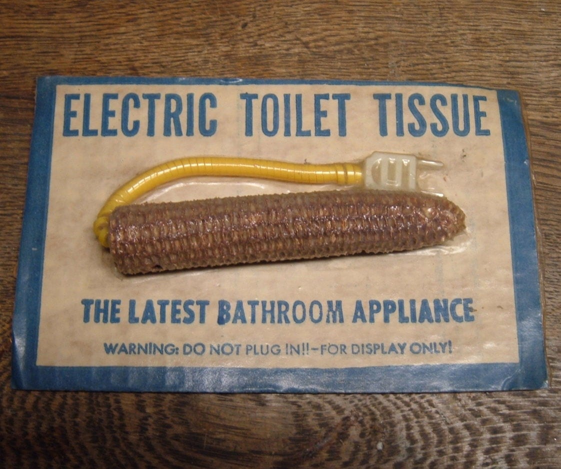 Novelty Electric Toilet Tissue Corn Cob with Electric by artbrawl