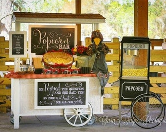 He Popped the Question She Said Yes - Chalkboard Wedding Poster