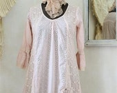 Jeanne d'Arc Living Beloved Dream Nordic/romantic/Bohemian tunic with laces and eyelet