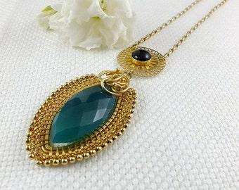 Vermeil wire wrap necklace, sterling silver gold plated jewelry, gemstone fine jewelry, wire wrapped jewelry, luxury jewelry