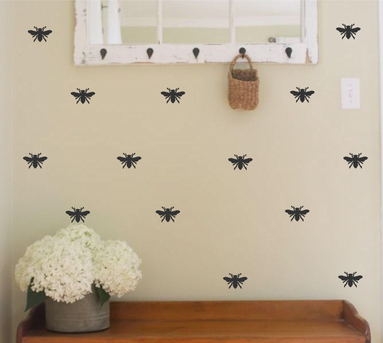 Bee Home Decor: Bee Vinyl Wall Decal Honey Bee Designer Decor-Home