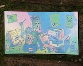 """Single Sticker of """"Geekreek"""""""