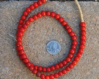 Antique Prosser Padre Beads Red