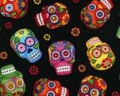 Sugar Skulls - Timeless Treasures - 1 yard - More Available - BTY