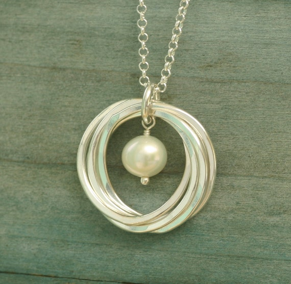 pearl necklace 50th birthday gift mothers necklace june