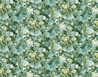 Lakeside Reflections from SPX Fabrics - Full or Half Yard Lake Pebbles Rocks