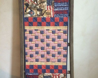 "Freedom Wall Hanging Kit - 18"" x 50.5"" Patriotic Red, White, and Blue Military, Uncle Sam, USA"