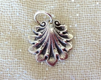 Pure Silver Shell Charm