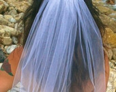 Party Veil, Bachelorette Veil, One Layer Veil, GIRLS NIGHT OUT veil, Party Veil - White Head Veil