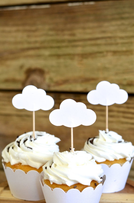 Cloud Cupcake Toppers