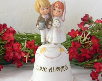 "Enesco ""All The Lord's Children"" Collectible Bell - Bride and Groom - Love Always"
