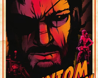 THE PHANTOM PAIN Metal Gear Art Poster