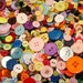 50 Button Rainbow Mix, All Colors, Assorted sizes and shapes, Sewing, Crafting, Jewelry, Collect (594)