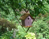 Steel Heart Shaped Hanger with Wren House