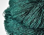 Pestled emerald - Tussah Silk Fingering Yarn