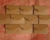 "50 Mini Brown Envelopes - Kraft Envelopes - Recycled Mini Envelopes - Tiny Envelopes - 2 3/8"" x 1 1/2"""