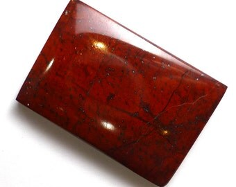 Red Tiger Iron Cabochon Rectangle Rare Unique One of a Kind Designer Hand Made Handmade Lapidary from Australia Museum Quality Bright Rich