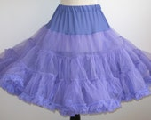 Vintage Can Can Girl Purple Nylon Tulle Full Circle Skirt Crinoline Petticoat