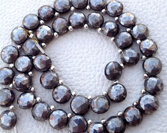 Brand New, Full 8 Inch Long Strand,PYRITE Faceted Coin Shape Briolettes,8mm size,Finest Item at Low Price