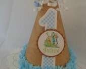 Peter Rabbit birthday party hat Easter party decorations Beatrix Potter