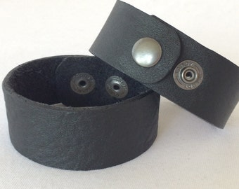 1 inch Leather Cuff, Leather Bracelet, Leather Cuff, Leather Cuff Blank, Black Leather Cuff, Black Bracelet, Leather, Jewelry Supply