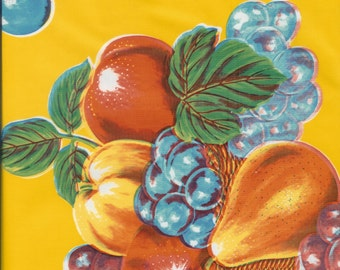 Limones on Yellow Oilcloth, Yardage