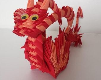 3D origami dragon 1