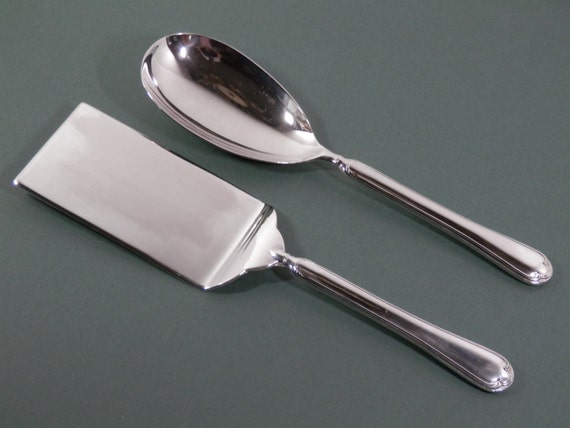 2 Piece Silver Plated Set Flat Food Spatula Amp Extra Large