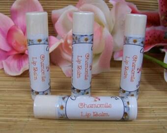 Chamomile Lip Balm ~  Chamomile Flavored Lip Balm with Jojoba ~ Moisturizing Natural Lip Balms