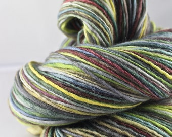 Handspun Yarn Gently Thick and Thin DK Single  Polwarth and Silk 'Lakeside'