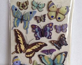 CIJ SALE Botantical Butterfly Grand Adhesion Stickers from K&Company 15pcs