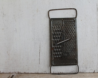 Vintage All-In-One Rustic Metal Cheese Grater