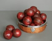 1 Vintage Cricket Ball from England - Red Leather
