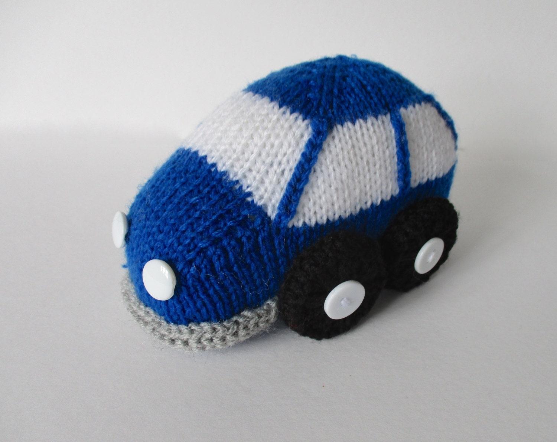 Bubble Car toy knitting pattern